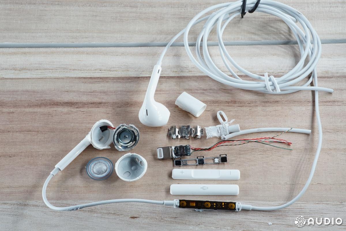 拆解报告:Apple苹果Lightning接口的EarPods耳机-我爱音频网