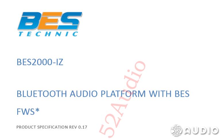 蓝牙4.2双模HiFi音频:BES恒玄FWS全无线耳机方案BES2000IZ-我爱音频网