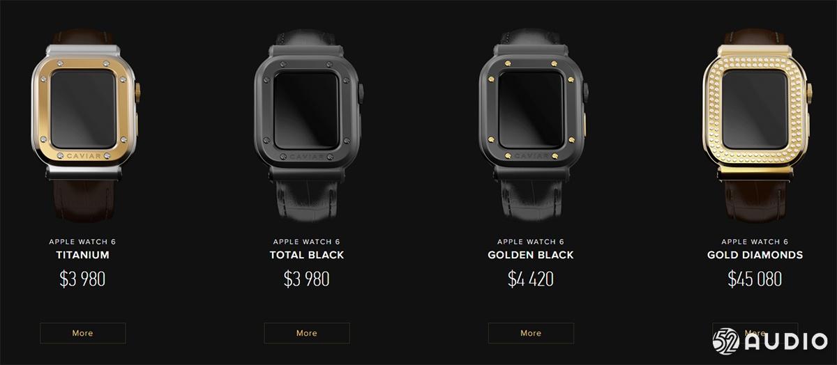 奢华品牌 Caviar 联名苹果推出限定版 Apple Watch,售价30万-我爱音频网