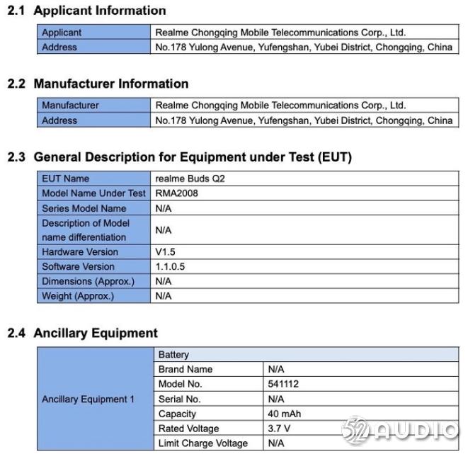 Realme Buds Q2真无线蓝牙耳机已被FCC曝光-我爱音频网
