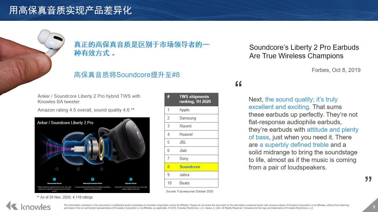 楼氏电子解读TWS蓝牙耳机向高保真音质时代演化-我爱音频网