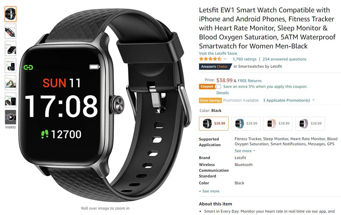 苹果只能排第十?美国亚马逊最新智能手表畅销榜公布!-我爱音频网