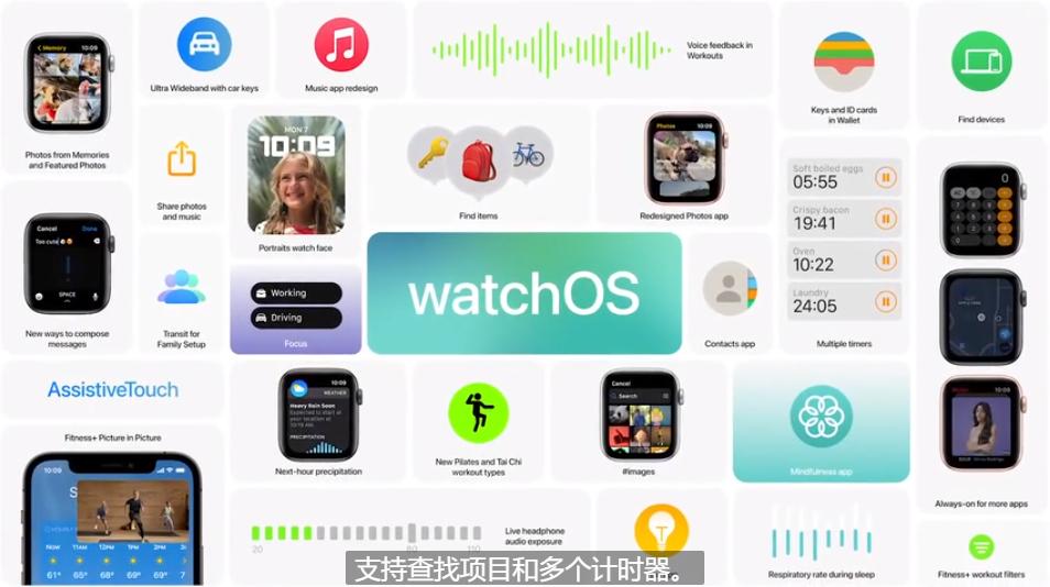 苹果智能手表系统 watchOS 8 更新,带你看看都有哪些方面优化和升级-我爱音频网