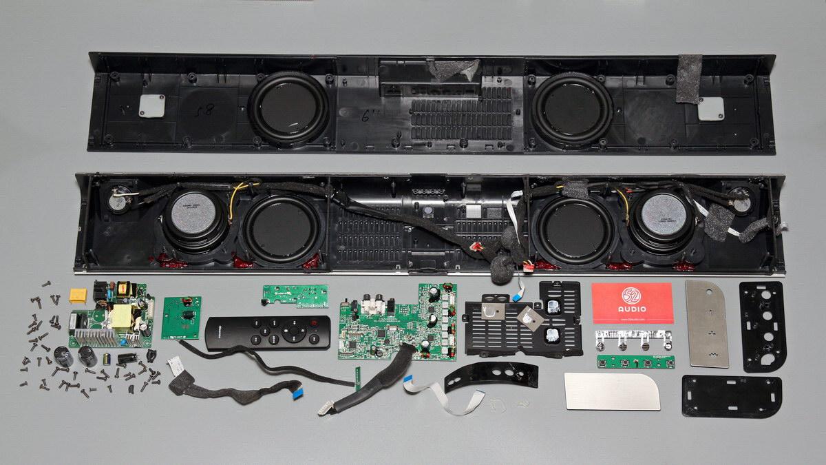 拆解报告:Hisense海信 2.0 Soundbar 条形音箱-我爱音频网