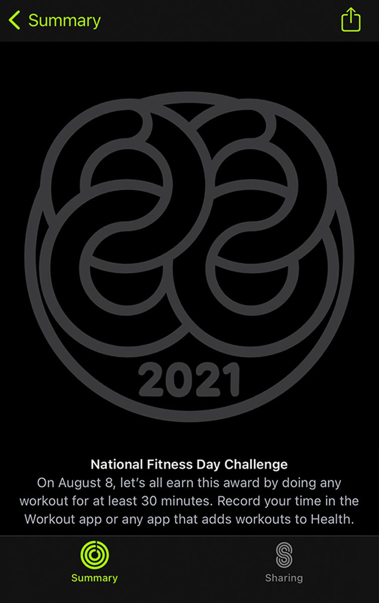 获取新的徽章和专属信息贴纸,苹果Apple Watch健身记录挑战2021开启-我爱音频网